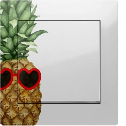 Włącznik Wyłącznik Simon 10 + ramka podwójny Ananas w okularach