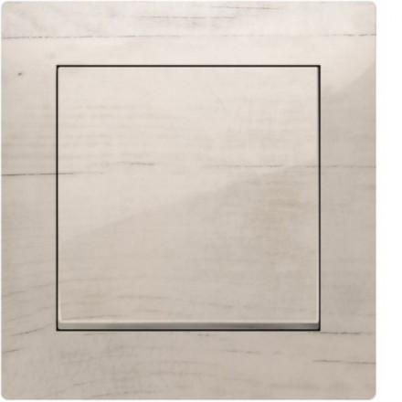 Włącznik Wyłącznik Simon 10 + ramka podwójny Białe drewno