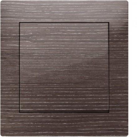 Włącznik Wyłącznik Simon 10 + ramka podwójny Ciemne drewno