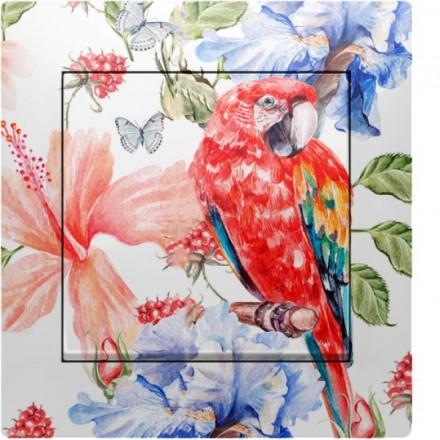 Włącznik Wyłącznik Simon 10 + ramka podwójny Czerwona papuga