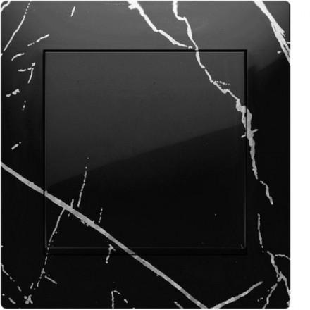 Włącznik Wyłącznik Simon 54 + ramka pojedynczy Czarny marmur