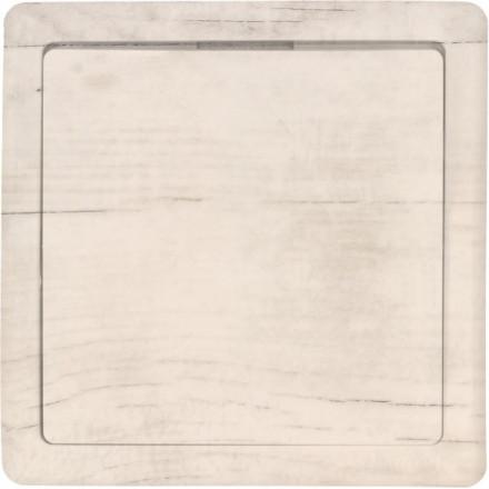 Włącznik Wyłącznik Simon Basic + ramka pojedynczy Białe drewno