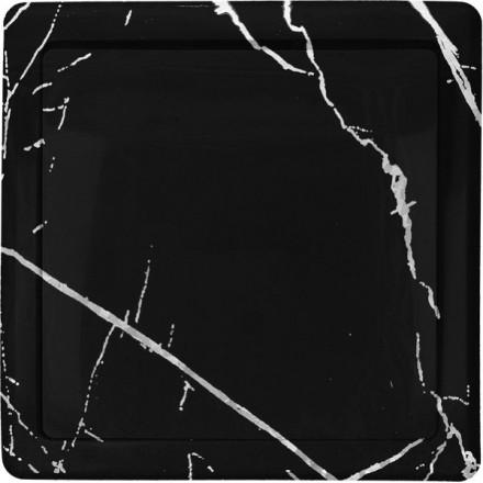 Włącznik Wyłącznik Simon Basic + ramka pojedynczy Czarny marmur
