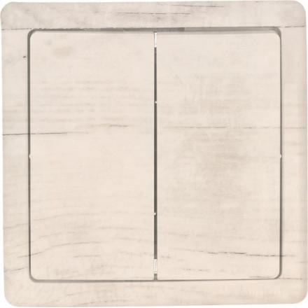 Włącznik Wyłącznik Simon basic + ramka podwójny Białe drewno