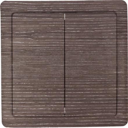 Włącznik Wyłącznik Simon basic + ramka podwójny Ciemne drewno