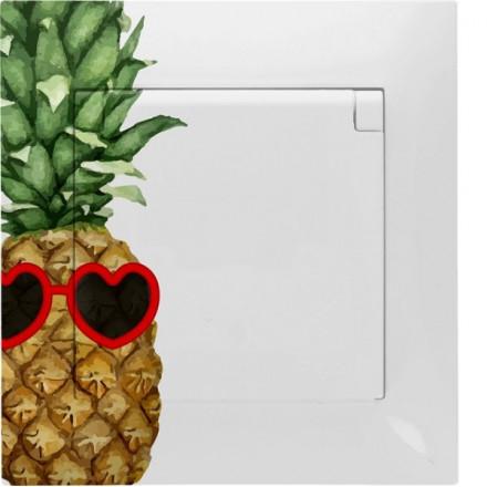 Gniazdo hermetyczne Simon 54 + ramka pojedyncze Ananas w okularach