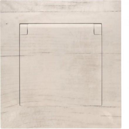 Gniazdo hermetyczne Simon 54 + ramka pojedyncze Białe drewno