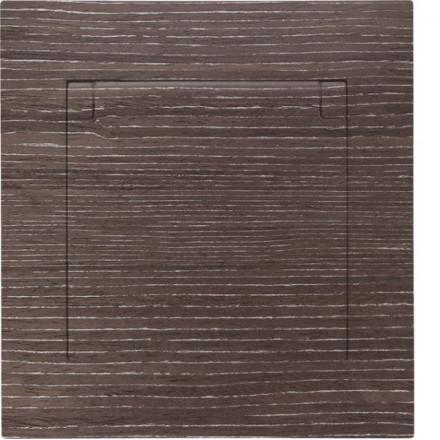 Gniazdo hermetyczne Simon 54 + ramka pojedyncze Ciemne drewno