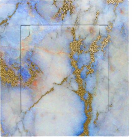 Gniazdo hermetyczne Simon 54 + ramka pojedyncze Marmur wzór 7