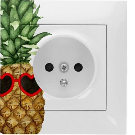 Gniazdo Simon 54 + ramka pojedyncze Ananas w okularach