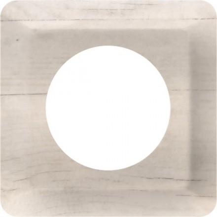 Osłonka pod kontakt / włącznik pojedyncza Białe drewno