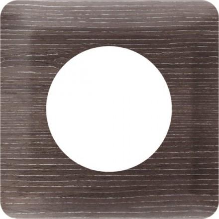 Osłonka pod kontakt / włącznik pojedyncza Ciemne drewno