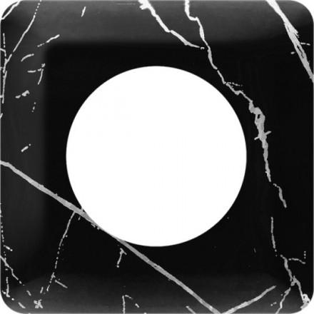 Osłonka pod kontakt / włącznik pojedyncza Czarny marmur