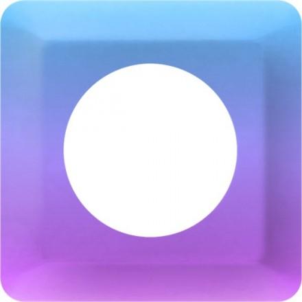 Osłonka pod kontakt / włącznik pojedyncza Fioletowy gradient
