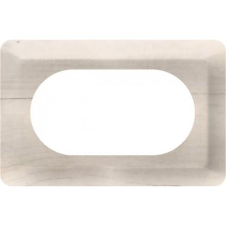 Osłonka pod kontakt / włącznik podwójna Białe drewno