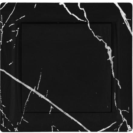 Włącznik Wyłącznik Adelind KM W1 + ramka pojedynczy Czarny marmur
