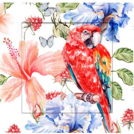 Włącznik Wyłącznik Adelind KM W1 + ramka pojedynczy Czerwona papuga