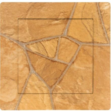 Włącznik Wyłącznik Adelind KM W1 + ramka pojedynczy Kamień wzór 2