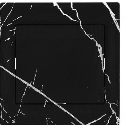Włącznik Wyłącznik Sigma + ramka pojedynczy Czarny marmur