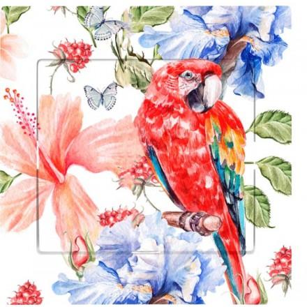 Włącznik Wyłącznik Sigma + ramka pojedynczy Czerwona papuga