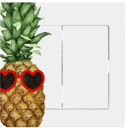 Włącznik Wyłącznik Sigma + ramka podwójny Ananas w okularach