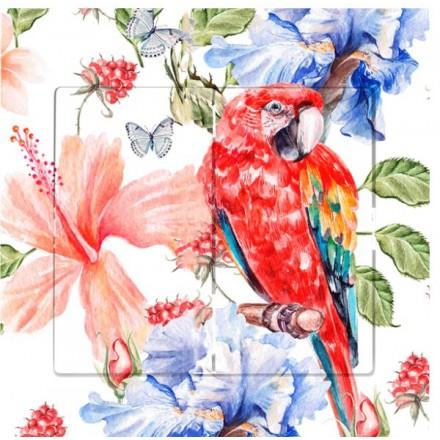 Włącznik Wyłącznik Sigma + ramka podwójny Czerwona papuga
