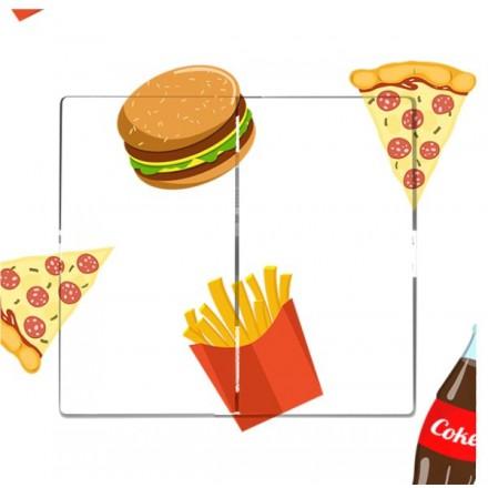 Włącznik Wyłącznik Sigma + ramka podwójny Fast Food