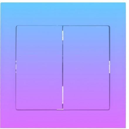Włącznik Wyłącznik Sigma + ramka podwójny Fioletowy gradient