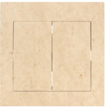 Włącznik Wyłącznik Sigma + ramka podwójny Granit wzór 12
