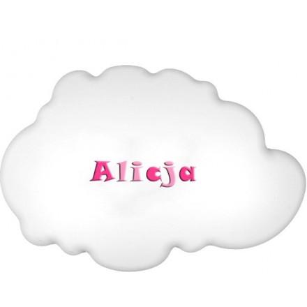Lampa ścienna nocna biała chmurka Alicja wzór 2