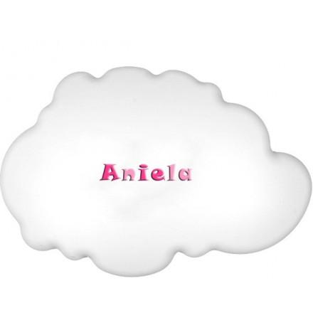 Lampa ścienna nocna biała chmurka Aniela wzór 2