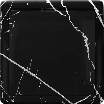 Przycisk dzwonka do drzwi Simon Basic Czarny marmur