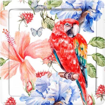 Przycisk dzwonka do drzwi Simon Basic Czerwona papuga