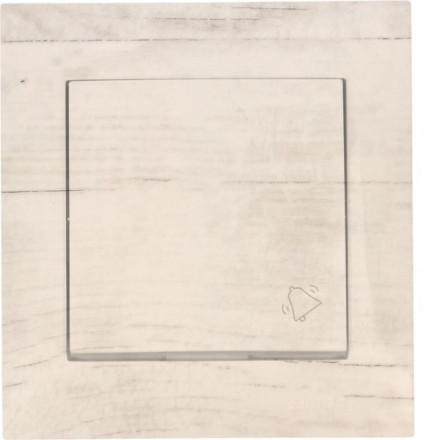 Przycisk dzwonka do drzwi Simon 54 Białe drewno