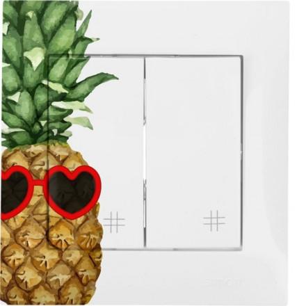 Włącznik krzyżowy Simon 54 Podwójny Ananas w okularach