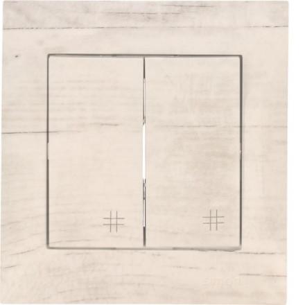Włącznik krzyżowy Simon 54 Podwójny Białe drewno