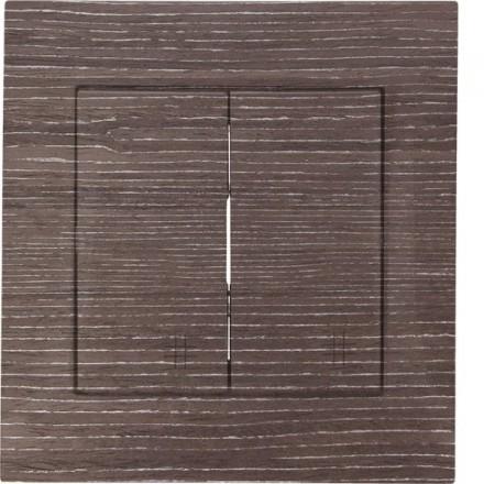 Włącznik krzyżowy Simon 54 Podwójny Ciemne drewno