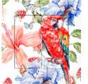 Włącznik krzyżowy Simon 54 Podwójny Czerwona papuga