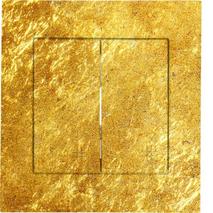 Włącznik krzyżowy Simon 54 Podwójny Złoto