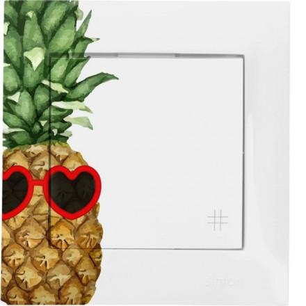 Włącznik krzyżowy Pojedynczy Simon 54 Ananas w okularach