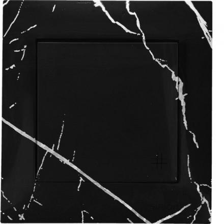 Włącznik krzyżowy Pojedynczy Simon 54 Czarny marmur