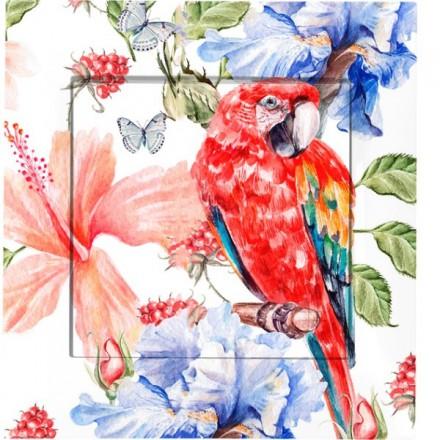 Włącznik krzyżowy Pojedynczy Simon 54 Czerwona papuga