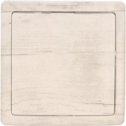 Włącznik schodowy Basic pojedynczy Białe drewno