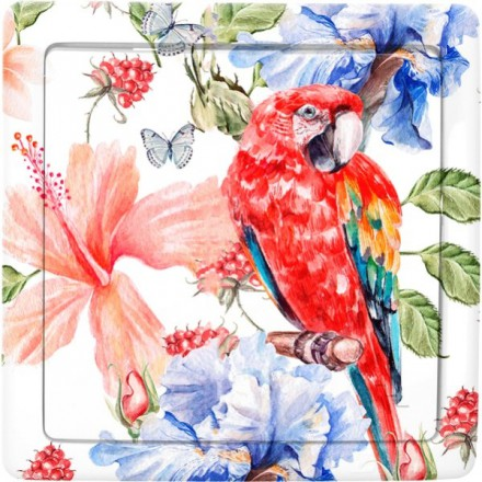 Włącznik schodowy Basic pojedynczy Czerwona papuga
