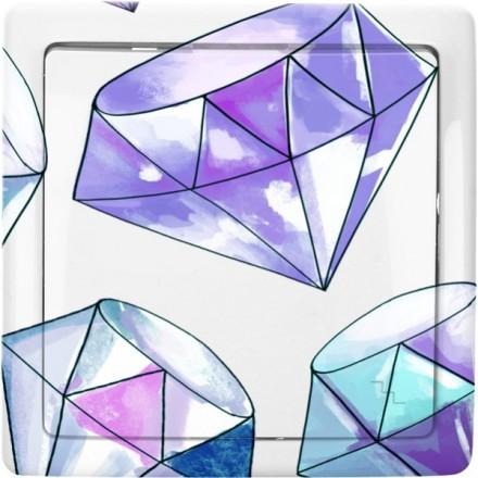 Włącznik schodowy Basic pojedynczy Fioletowy diamenty
