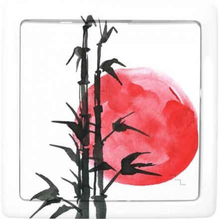 Włącznik schodowy Basic pojedynczy Japoński zachód słońca