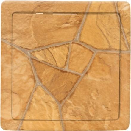 Włącznik schodowy Basic pojedynczy Kamień wzór 2