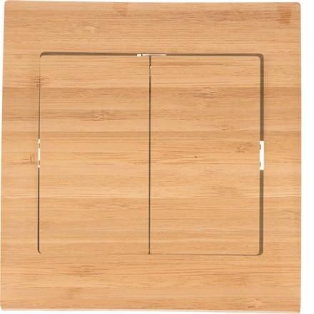 Włącznik schodowy Sigma Podwójny Bambus