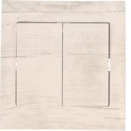 Włącznik schodowy Sigma Podwójny Białe drewno