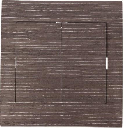 Włącznik schodowy Sigma Podwójny Ciemne drewno